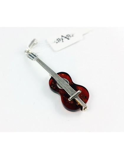 Bursztynowa gitara - niezwykła zawieszka