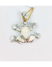 Zawieszka żaba z opalem australijskim