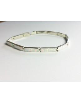 Drobna bransoletka z perłowego opala australijskiego