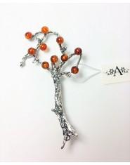 Broszka bursztynowe drzewo