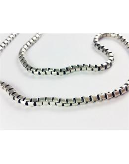 Męski łańcuszek z plecionego srebra