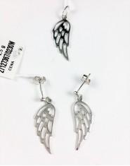 Komplet biżuterii ażurowe skrzydła