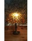 Bursztynowa lampa witrażowa