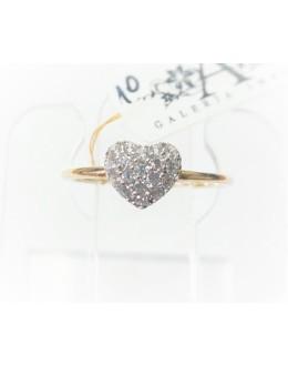 Złoty pierścionek serduszko r 12