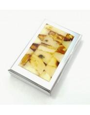 Pojemnik na tabletki z bursztynu prostokątny duży