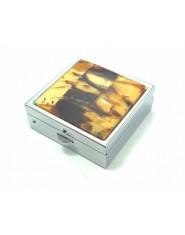 Pojemnik na tabletki z bursztynu kwadrat