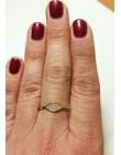 Złoty pierścionek owal r 16