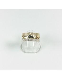 Złoty pierścionek nieskończoność r 15