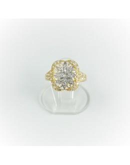 Złoty pierścionek kwiat r 12