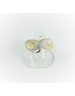 Złoty pierścionek z cyrkoniami r 14