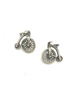 """Kolczyki """" rowery """" ze srebra"""