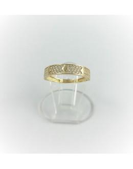 Zloty pierścionek obrączka romby r 12