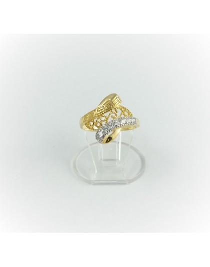 Ażurowy zakręcony pierścionek r 12