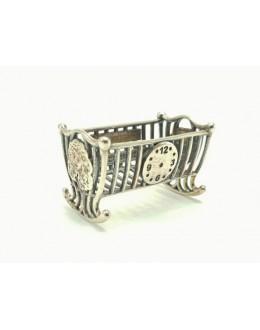 Kołyska - srebrna miniaturka