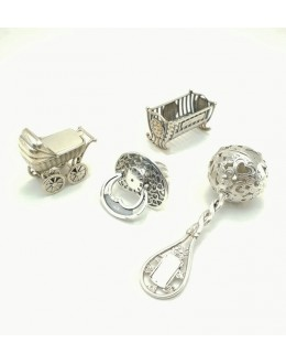 Smoczek - srebrna miniaturka