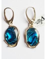 Kolczyki z niebieską masą perłową