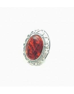 Srebrny pierścień z macicą perłową r. 16