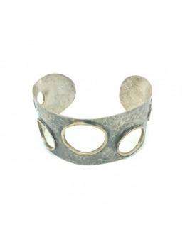 Bransoleta srebrna z okrągłymi dziurami
