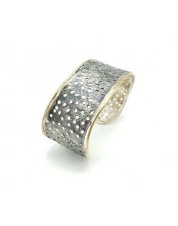 Bransoleta srebrna z dziurkami