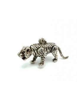 Srebrna zawieszka tygrys 3D