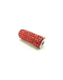 Srebrna zawieszka z czerwonymi cyrkoniami (również do bransoletek)