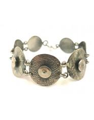 Srebrna bransoleta tarcza z cyrkonią
