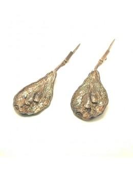 Srebrne kolczyki gruszki