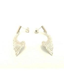 Srebrne kolczyki skrzydła anioła