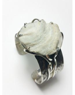 Ręcznie wykonana bransoletka z chalcedonitem