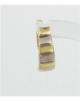 Złote kolczyki paski angielskie zapięcie