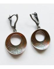 Tęczowe srebrne kolczyki