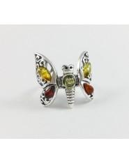 Pierścionek motyl z ruchomymi skrzydłami