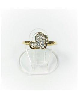 Złoty pierścionek serduszko r 10