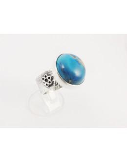 Pierścionek obrączka z jaspisem imperial