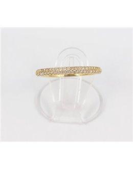 Złoty pierścionek obrączka z cyrkoniami r 15