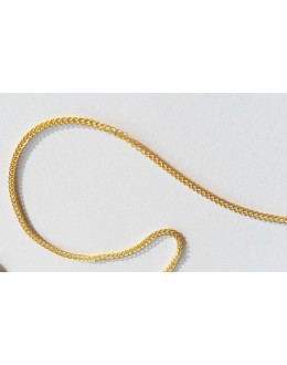 Złoty łańcuszek warkoczyk 585 45 cm
