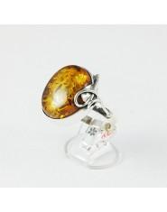 Okrągły koniakowy pierścionek r.25